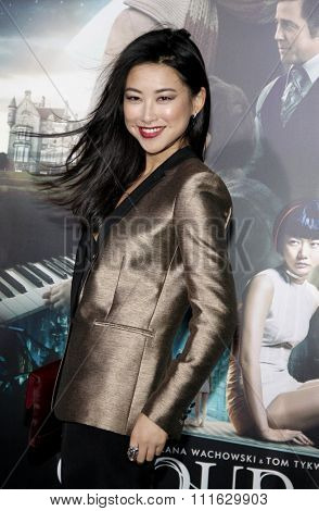LOS ANGELES, CALIFORNIA - October 24, 2012. Zhu Zhu at the Los Angeles premiere of 'Cloud Atlas' held at the Grauman's Chinese Theatre, Los Angeles.