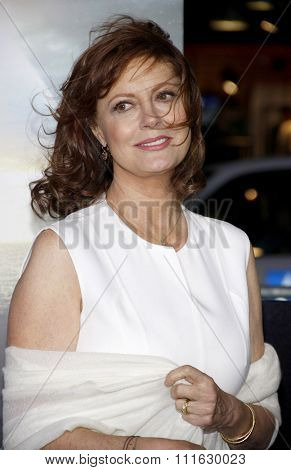 LOS ANGELES, CALIFORNIA - October 24, 2012. Susan Sarandon at the Los Angeles premiere of 'Cloud Atlas' held at the Grauman's Chinese Theatre, Los Angeles.