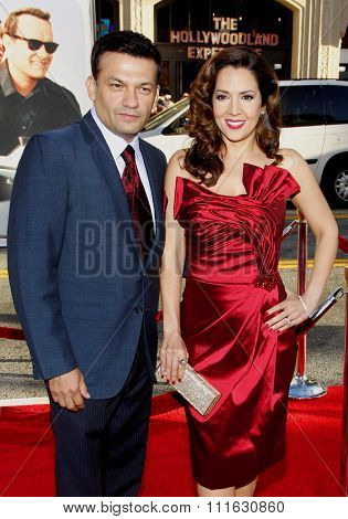 Maria Canals-Barrera and David Barrera at the Los Angeles premiere of 'Larry Crowne' held at the Grauman's Chinese Theater in Hollywood, USA on June 27, 2011.