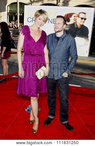 Jenna Elfman and Bodhi Elfman at the Los Angeles premiere of 'Larry Crowne' held at the Grauman's Chinese Theater in Hollywood, USA on June 27, 2011.