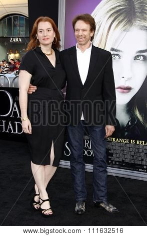 Jerry Bruckheimer and Linda Bruckheimer at the Los Angeles premiere of 'Dark Shadows' held at the Grauman's Chinese Theater in Hollywood, USA on May 7, 2012.