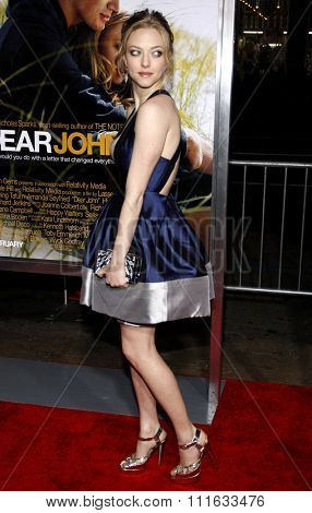 Amanda Seyfried at the World Premiere of