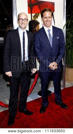 BEVERLY HILLS, CALIFORNIA - November 15, 2011. Jim Rash and Nat Faxon at the Los Angeles Premiere of