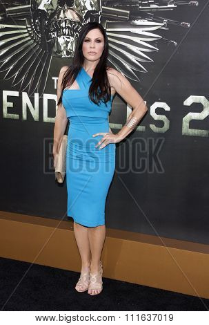 LOS ANGELES, CALIFORNIA - August 15, 2012. Christa Campbell at the Los Angeles premiere of 'The Expendables 2' held at the Grauman's Chinese Theatre, Los Angeles.