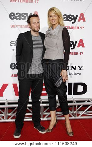Jenna Elfman and Bodhi Elfman at the Los Angeles Premiere of