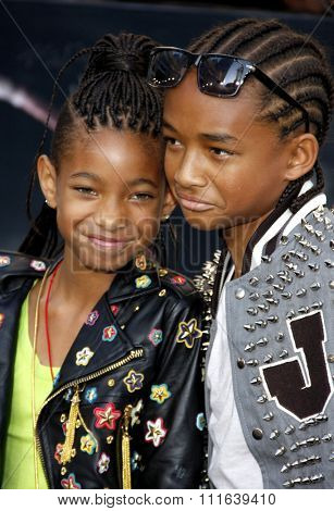 Willow Smith and Jaden Smith at