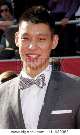 Jeremy Lin at the 2012 ESPY Awards held at the Nokia Theatre L.A. Live in Los Angeles, USA on July 11, 2012.