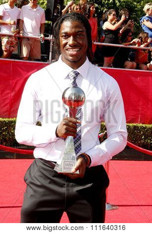 Robert Griffin III at the 2012 ESPY Awards held at the Nokia Theatre L.A. Live in Los Angeles, USA on July 11, 2012.