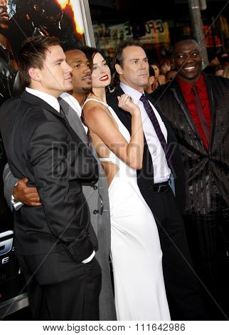 August 6, 2009. Channing Tatum, Marlon Wayans, Rachel Nichols, Stephen Sommers, and Adewale Akinnuoye-Agbaje at the LA premiere of