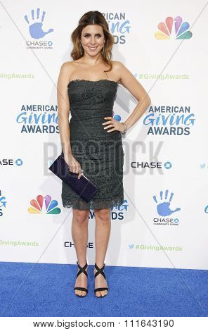 LOS ANGELES, CALIFORNIA - December 7, 2012. Jamie-Lynn Sigler at the 2nd Annual American Giving Awards held at the Pasadena Civic Auditorium in Los Angeles.