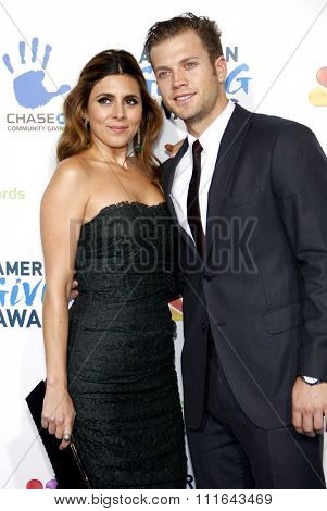 Jamie-Lynn Sigler and Cutter Dykstra at the 2nd Annual American Giving Awards held at the Pasadena Civic Auditorium in Los Angeles, California, United States on December 7, 2012.