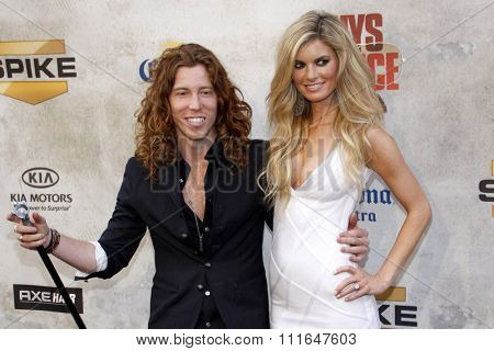 CULVER CITY, CALIFORNIA - June 5, 2010. Shaun White and Marisa Miller at the 2010 Guys Choice Awards held at the Sony Pictures Studios, Culver City.