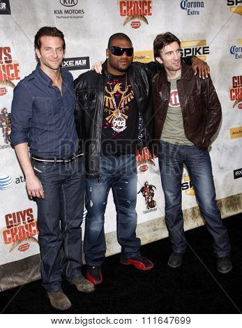 Bradley Cooper, Sharlton Copley and Quinton Jackson at the 2010 Guys Choice Awards held at the Sony Pictures Studios in Culver City, California, United States on June 5, 2010.