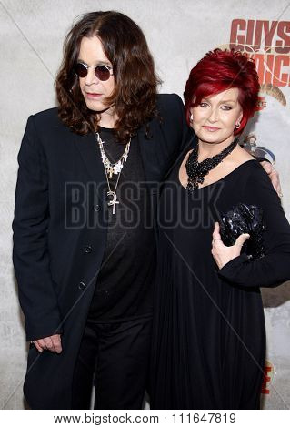 Ozzy Osbourne and Sharon Osbourne at the 2010 Guys Choice Awards held at the Sony Pictures Studios in Culver City, California, United States on June 5, 2010.
