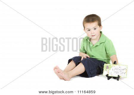 Young Boy Sitting