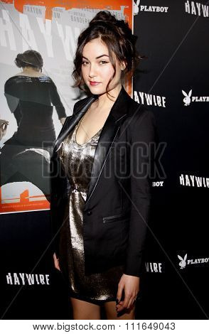 HOLLYWOOD, CALIFORNIA - January 5, 2012. Sasha Grey at the Los Angeles premiere of