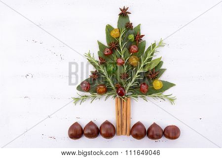 Festive Cooking Concept Christmas Tree