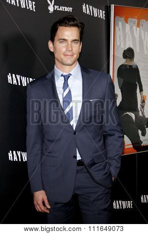 HOLLYWOOD, CALIFORNIA - January 5, 2012. Matt Bomer at the Los Angeles premiere of