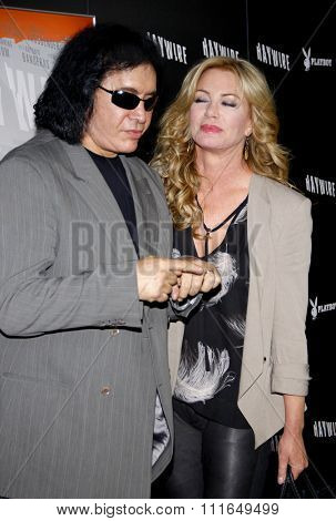 Gene Simmons and Shannon Tweed at the Los Angeles Premiere of