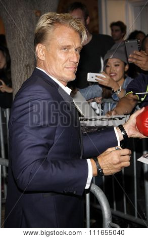 Dolph Lundgren at the Los Angeles premiere of 'Creed' held at the Regency Village Theatre in Westwood, USA on November 19, 2015.
