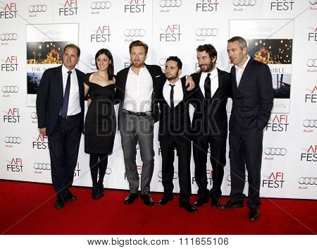 Sergio G. Sanchez, Belen Atienza, Ewan McGregor and J.A. Bayona at the 2012 AFI Fest screening of