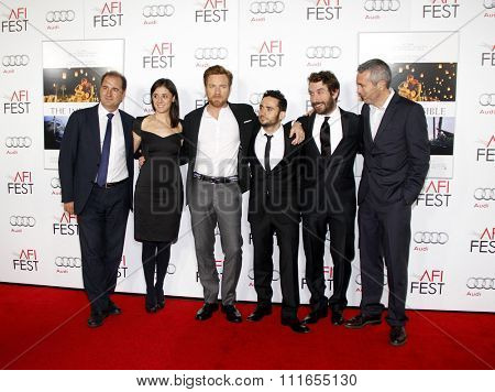 Sergio G. Sanchez, Belen Atienza, Ewan McGregor and J.A. Bayona at the 2012 AFI Fest Special screening of