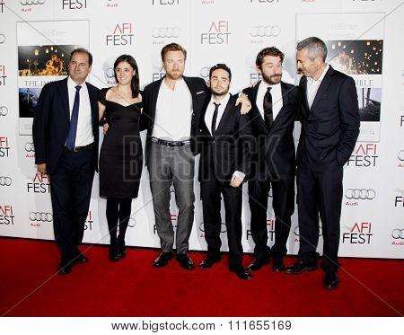 Sergio G. Sanchez, Belen Atienza, Ewan MvGregor and J.A. Bayona at the 2012 AFI FEST Special Screening of