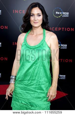 HOLLYWOOD, CALIFORNIA - July 13, 2010. Carrie-Anne Moss at the Los Angeles premiere of