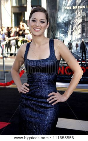 Marion Cotillard at the Los Angeles Premiere of