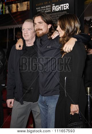 Dicky Eklund, Christian Bale and Sibi Blazic at the Los Angeles Premiere of