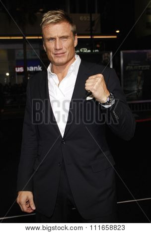 HOLLYWOOD, CALIFORNIA - November 22, 2010. Dolph Lundgren at the Los Angeles premiere of