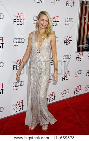HOLLYWOOD, CALIFORNIA - November 3, 2011. Naomi Watts at the AFI Fest 2011 Opening Night Gala World Premiere Of