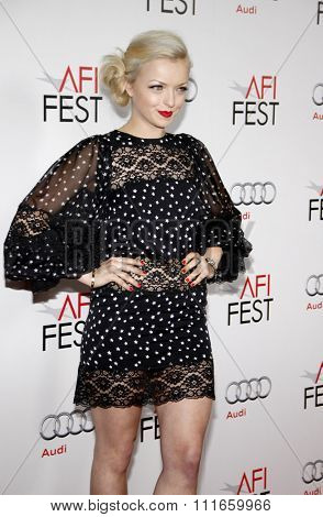 HOLLYWOOD, CALIFORNIA - November 3, 2011. Francesca Eastwood at the AFI Fest 2011 Opening Night Gala World Premiere Of