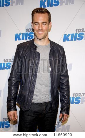 James Van Der Beek at the KIIS FM's 2012 Jingle Ball held at the Nokia Theatre L.A. Live in Los Angeles, USA on December 3, 2012.