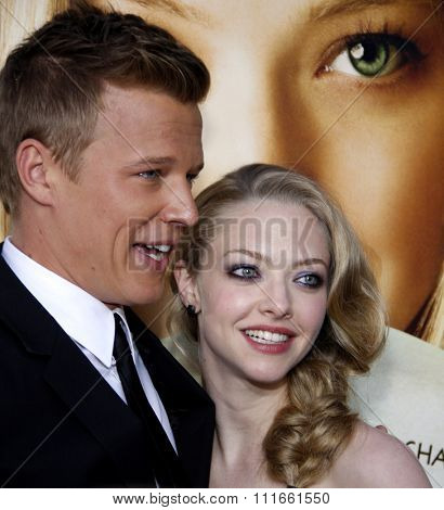 Amanda Seyfried and Chris Egan at the Los Angeles Premiere of