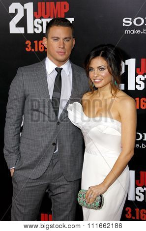 HOLLYWOOD, CALIFORNIA - March 13, 2012. Channing Tatum and Jenna Dewan at the Los Angeles premiere of