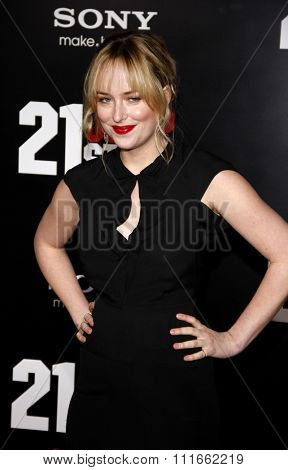 HOLLYWOOD, CALIFORNIA - March 13, 2012. Dakota Johnson at the Los Angeles premiere of