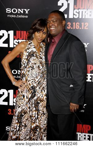 HOLLYWOOD, CALIFORNIA - March 13, 2012. Holly Robinson Peete and Rodney Peete at the Los Angeles premiere of