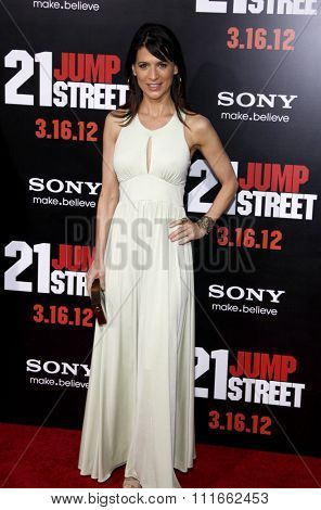 HOLLYWOOD, CALIFORNIA - March 13, 2012. Perrey Reeves at the Los Angeles premiere of