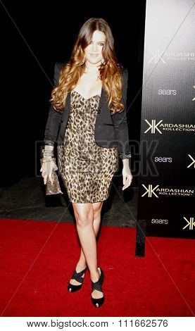 Khloe Kardashian at the Kardashian Kollection Launch Party held at the Colony in Los Angeles, California, United States on August 17, 2011.