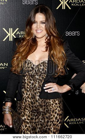 Khloe Kardashian at the Kardashian Kollection Launch Party held at the Colony in Hollywood, USA on August 17, 2011.