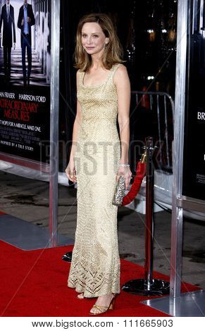 HOLLYWOOD, CALIFORNIA - January 19, 2010. Calista Flockhart at the Los Angeles premiere of