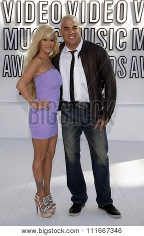 Jenna Jameson and Tito Ortiz at the 2010 MTV Video Music Awards held at the Nokia Theatre L.A. Live in Los Angeles, USA on September 12, 2010.