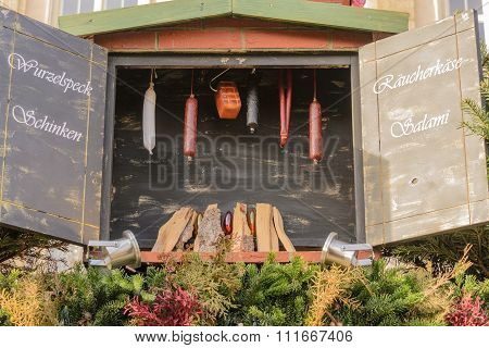 Smoking Meat Christmas Market Style