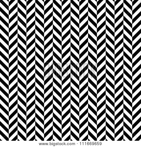 Black and white herringbone seamless pattern