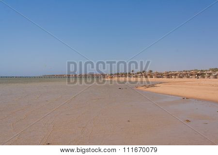 Sandy beach in Egypt.
