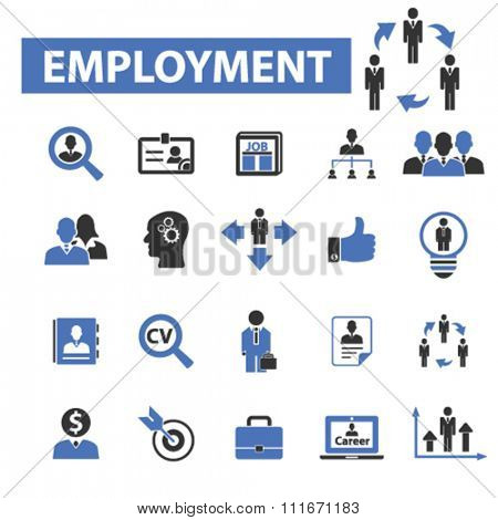 employment icon, employment agency, career path, career devlopment, human resources, job, cv icons set