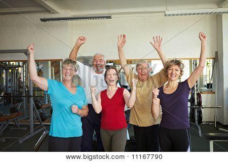 People Having Fun In Gym