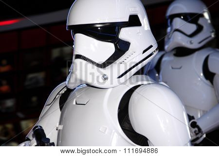Stormtroopers at the World premiere of 'Star Wars: The Force Awakens' held at the TCL Chinese Theatre in Hollywood, USA on December 14, 2015.