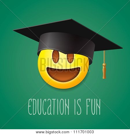 Education is fun, emoticon laughing